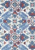 Thibaut Persian Carpet Wallpaper in Blue and White